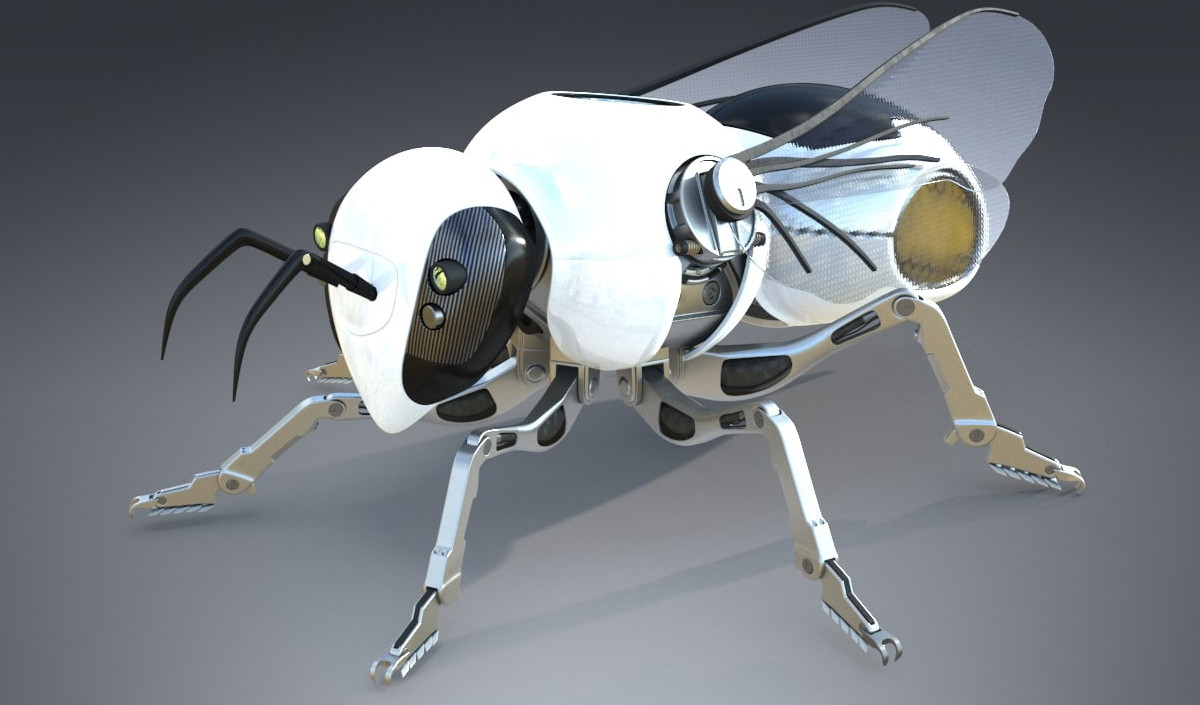 Created wings for insect robots, working only on the energy of the sun